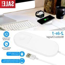 10W Fast charge Qi Wireless Charger Dock Pad For Apple Watch