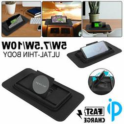 10W Qi Wireless Car Charger Fast Charging Pad Station Cell P