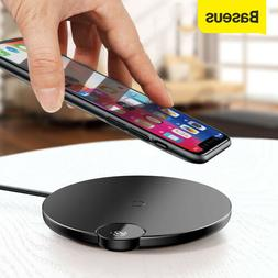 Baseus 10W Qi Wireless Charger LED Charging Pad for iPhone X