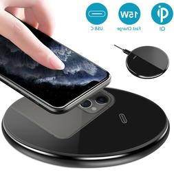 15W Qi Wireless Fast Charger Charging Pad Dock For iPhone Sa