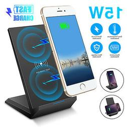 15W QI Wireless Fast Charging Charger Stand Phone Holder Pad