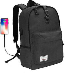 """17"""" Anti-Theft Water Resistant Travel Laptop Backpack w/ USB"""