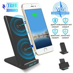 20W QI Wireless Fast Charging Charger Stand Phone Holder Pad
