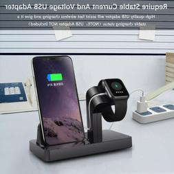 2in1 Charging Dock Pad Stand Bracket For iWatch 5/4/3/2/1 i