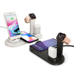 6in1 Qi Wireless Charging Dock Pad for iPhone 11 8 X Air pod