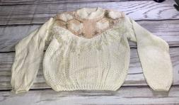 80s vintage sweater womens large hand knitted