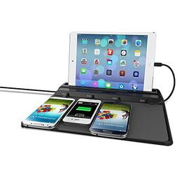 ChargeTech - Cell Phone Dock Charging Station Pad w/ 4 Inter