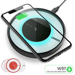 Qi Fast Wireless Charger Charging Pad for iPhone 12/mini/11/