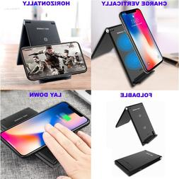 Fast Charging Wireless Charger Stand Pad for Samsung S8 S9 i