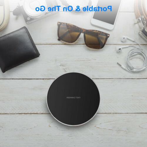10W Qi Fast Wireless Charger For Samsung Galaxy iPhone