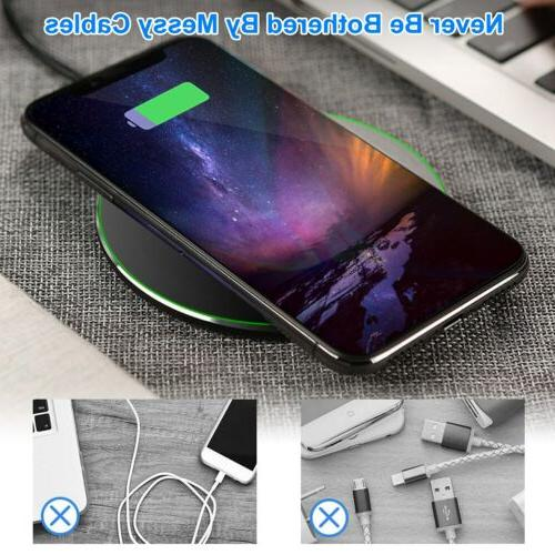 10W Qi Charger Charging For Galaxy iPhone