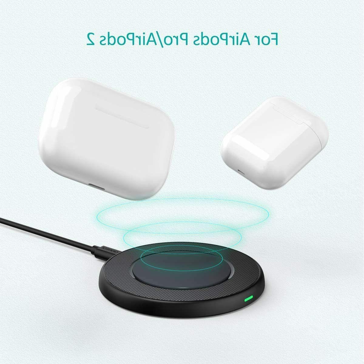 CHOETECH Wireless 15W Max Charging Pad with QC Adapte