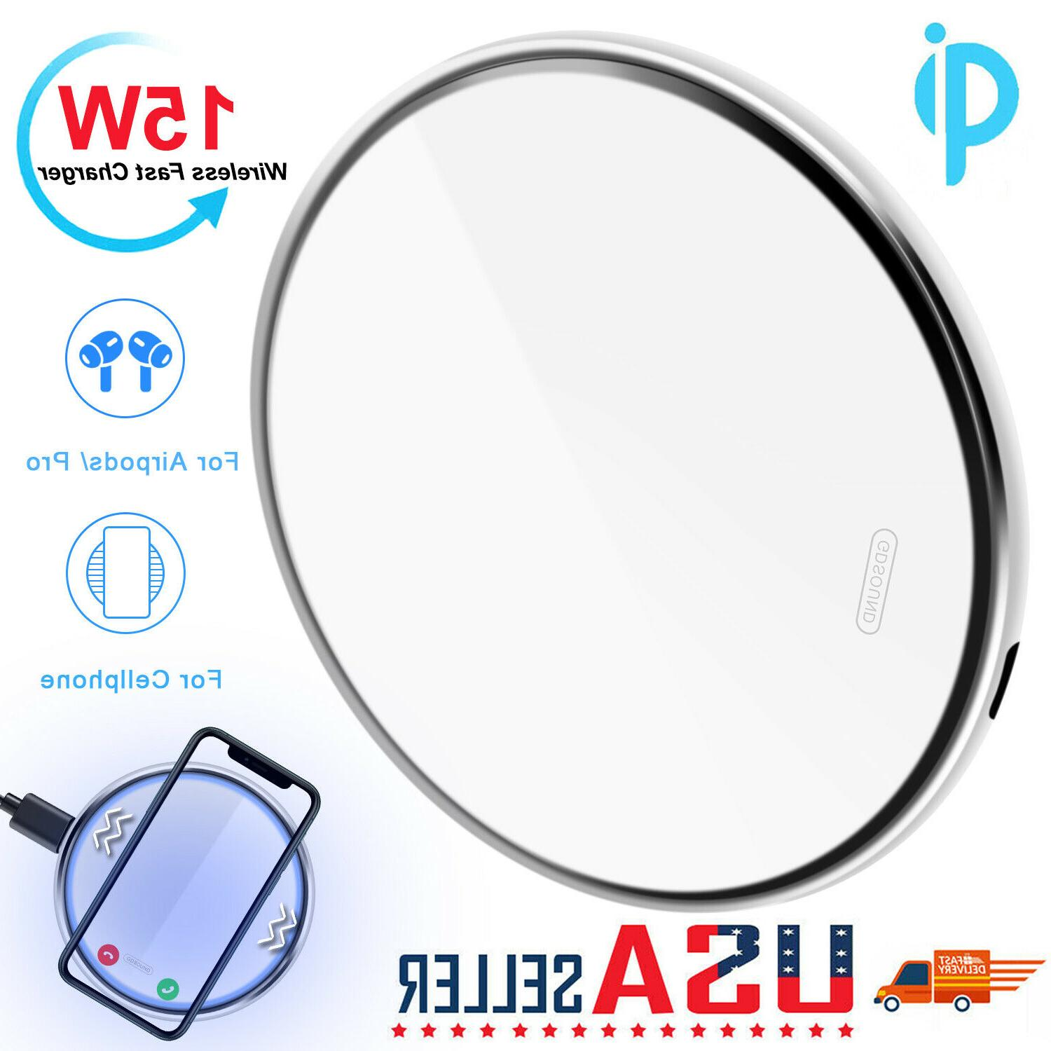 15w qi wireless fast charger charging pad