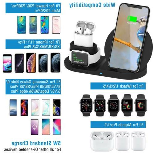 3-in-1 Wireless Charger For iPhone Apple Watch Airpod
