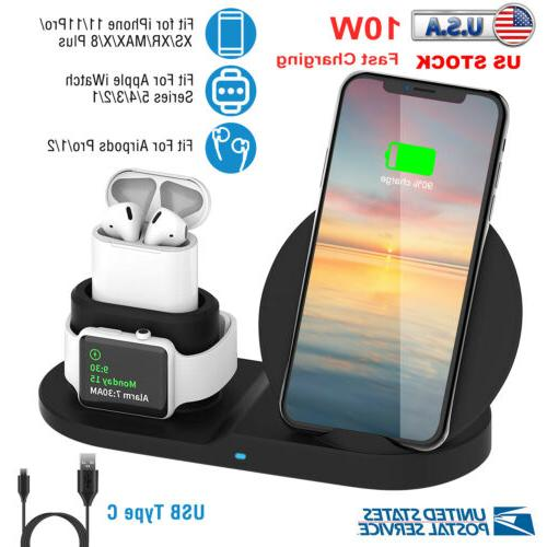 3 in 1 fast charging qi wireless