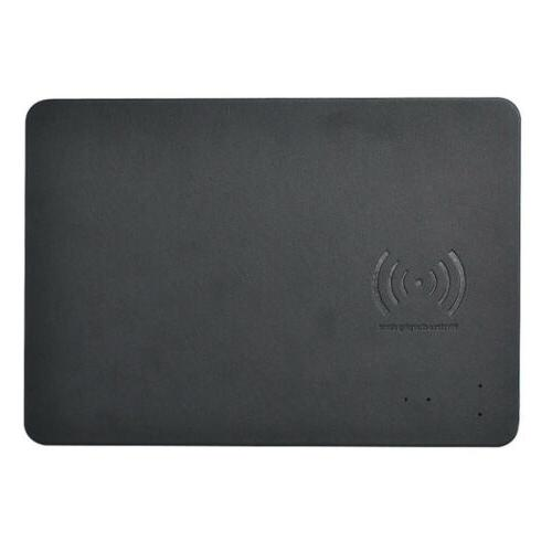 Mouse Pad w/ Qi Wireless Charger PU Leather Cordless Chargin