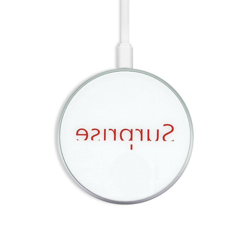 fast charging wireless charger pad 10w white