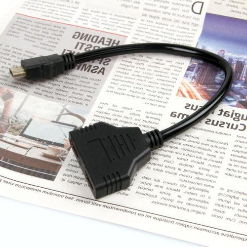 HDMI Port Male Female 1 Output Cable Converter HD