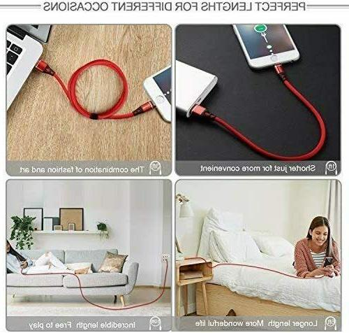For Charger, Nylon Braided USB Iphone X/8/7/6/5/Pad/Pod