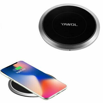 mirror slim aluminum wireless charger qi inductive