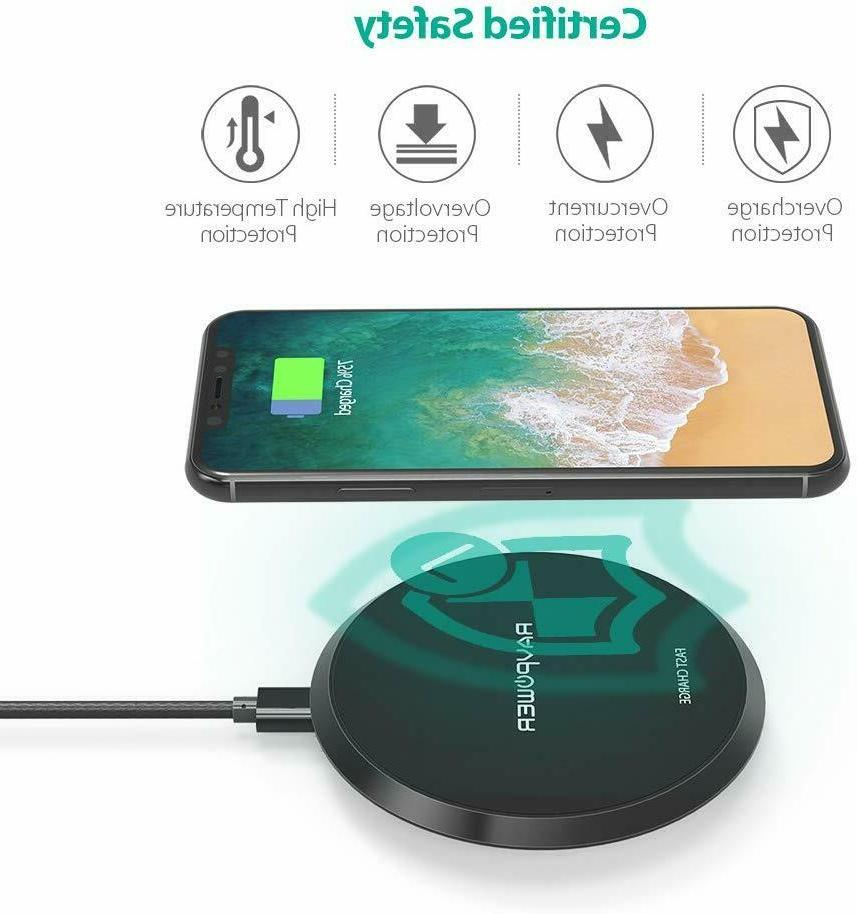 US Wireless Charger RAVPower QI Fast Wireless Charging Pad Q