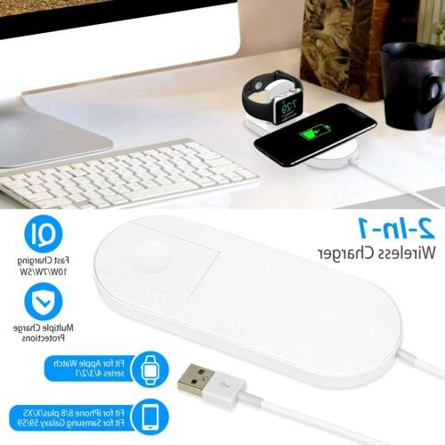 Qi Fast Wireless Charger Charging iPhone 11/Pro/Max/XS/8/Note 10/S10/+
