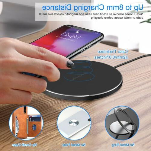 Qi Fast Wireless Mat Pads Slim for iPhone Sony LG