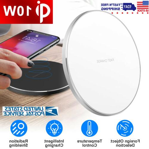 qi fast wireless charger mat 10w charging