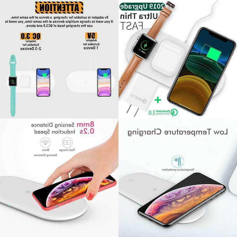 qi wireless charger 3 in 1 charging
