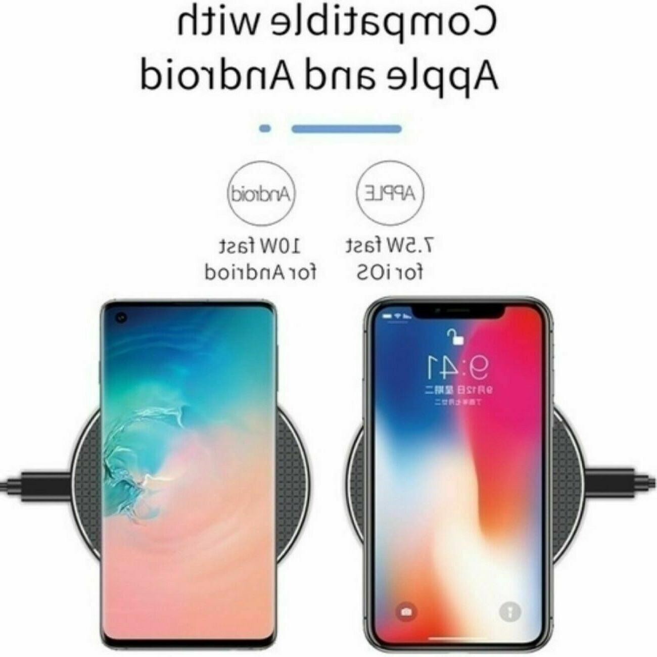 Qi Charger Fast Charge Pad iPhone XS Max X XR 12 Samsung