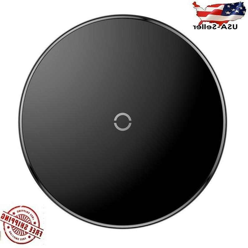 qi wireless charger charging pad black fast