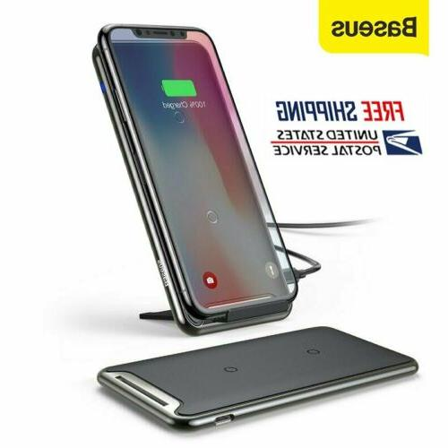 qi wireless charger dock charging pad