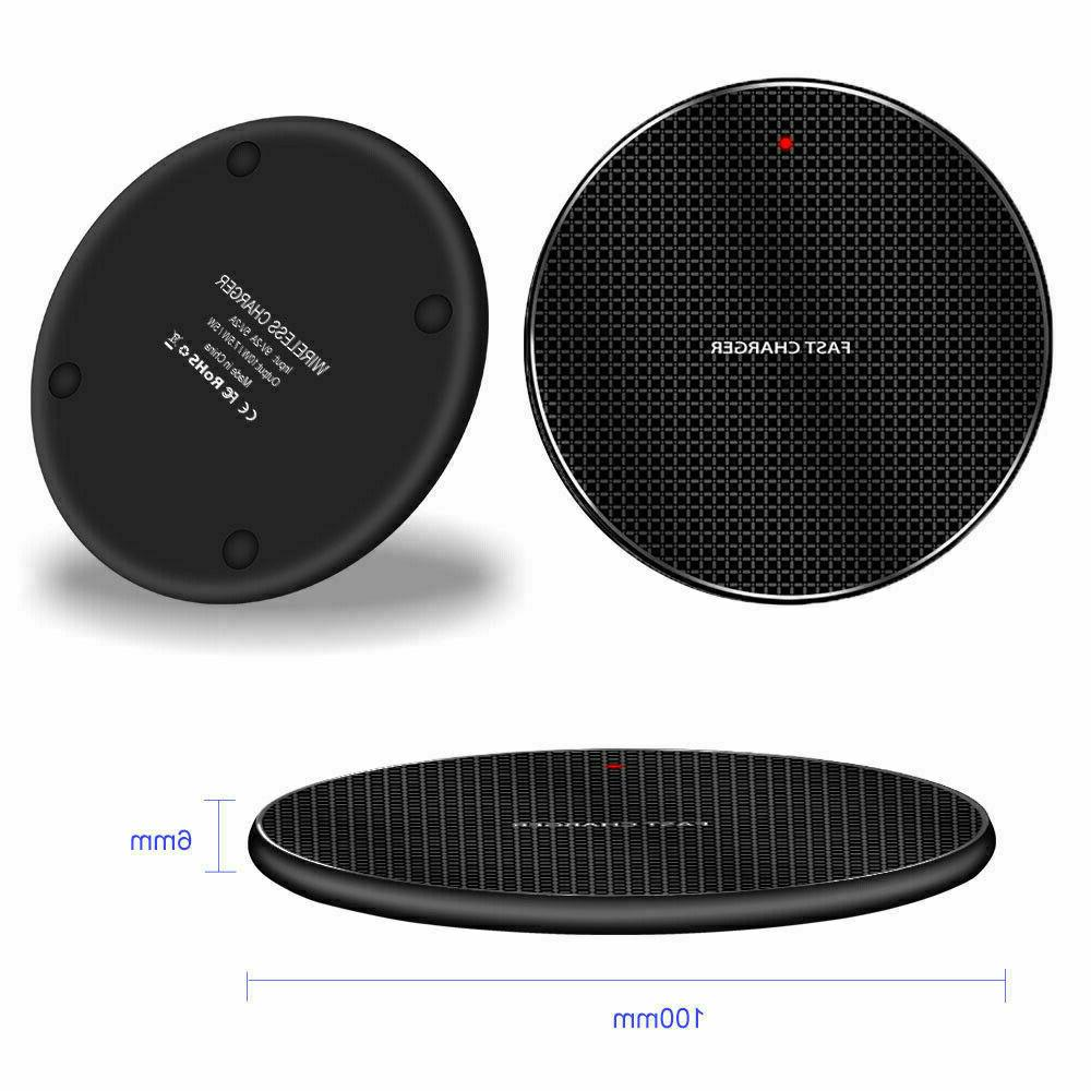 Qi Wireless Charger Charge Pad XS Max 12 11 Samsung