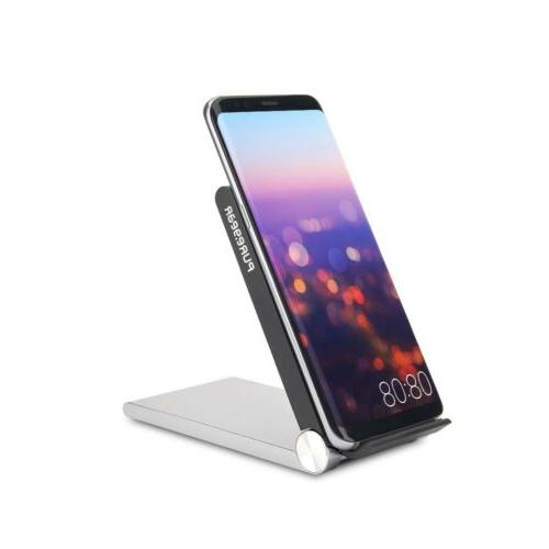 qi wireless charging pad with led plower