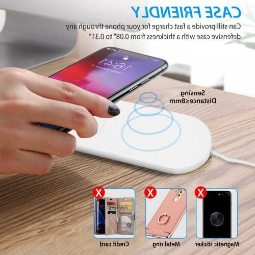 Qi Fast Wireless Charger Charging Pad 11/Pro/Max/XS/8/Note
