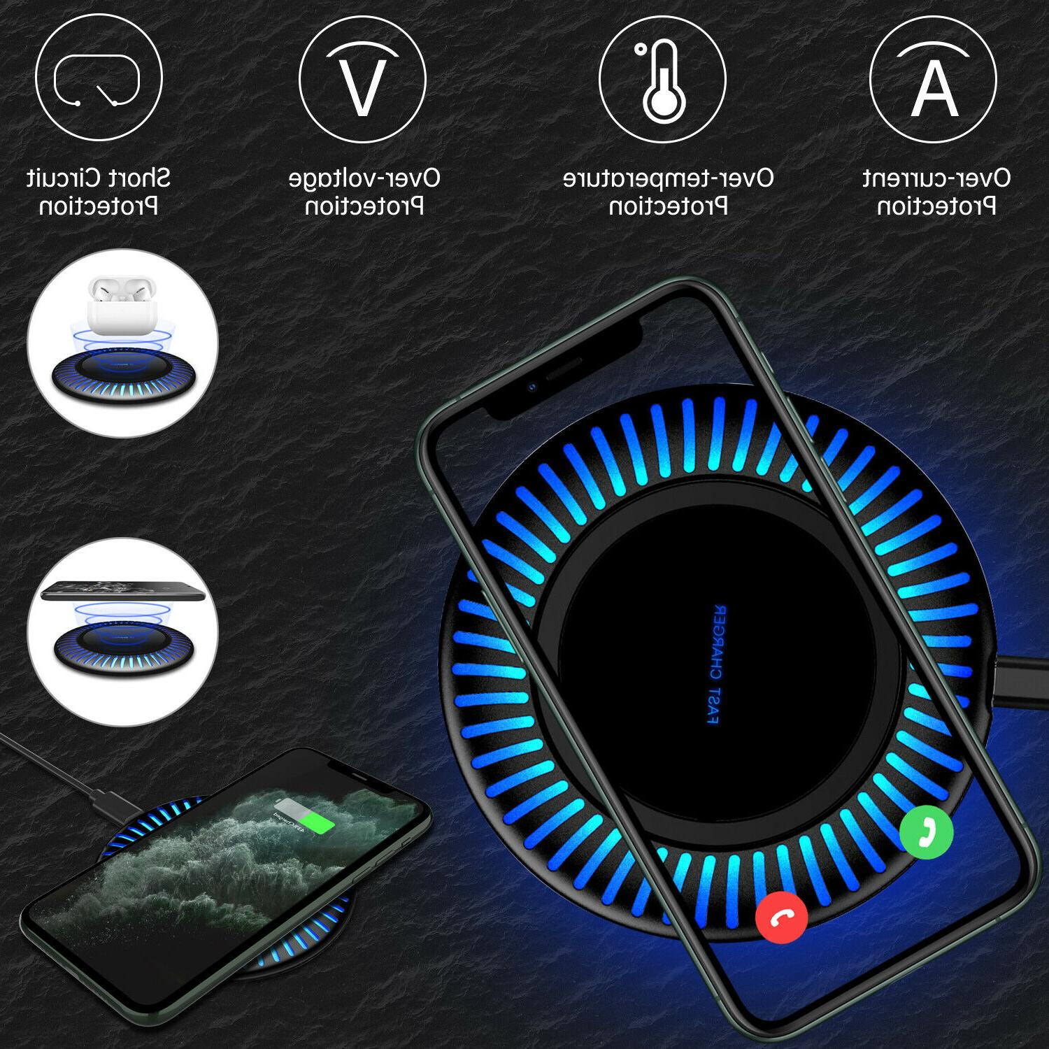 qi wireless fast charger charging pad