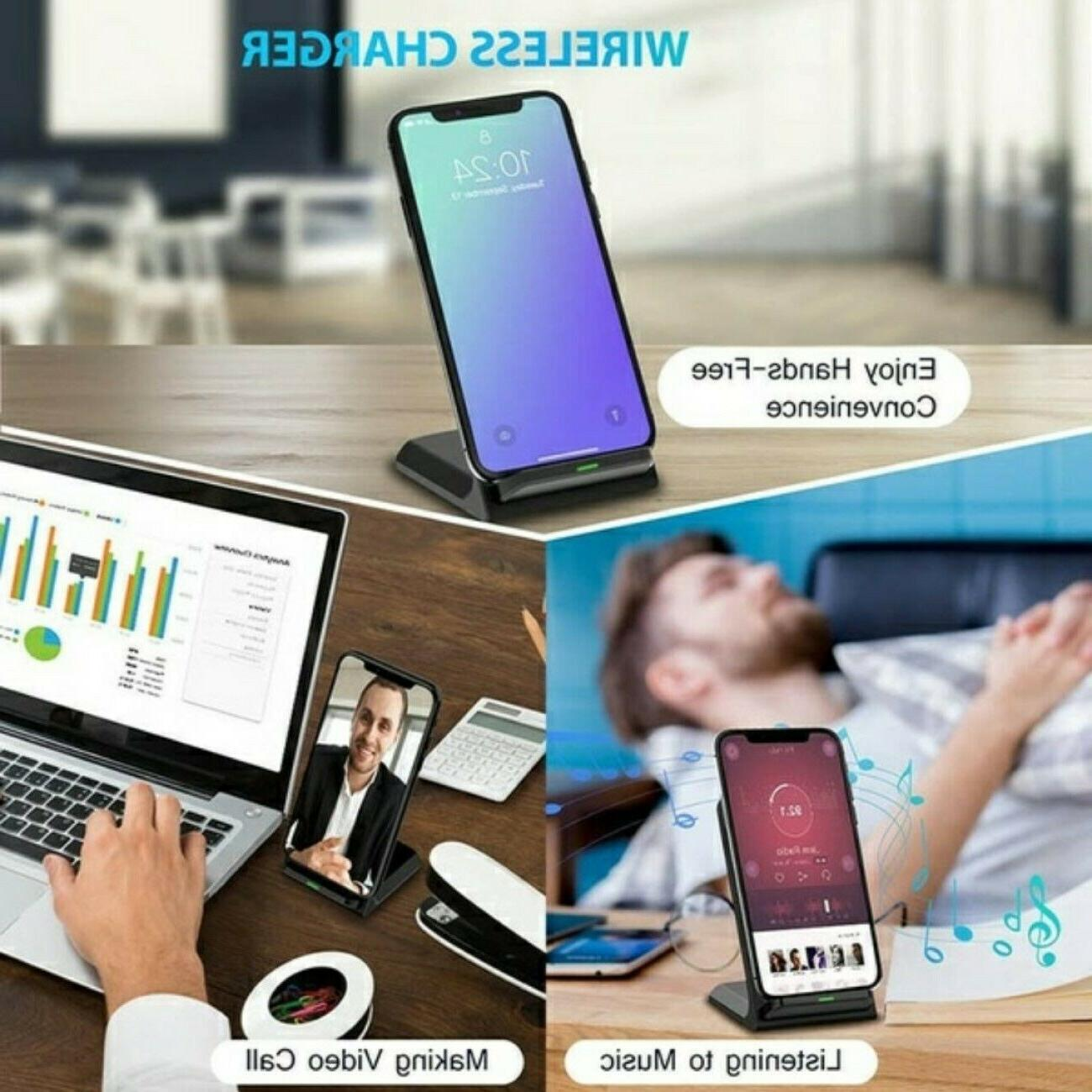 Qi Wireless Fast Charging Stand Pad Dock for LG