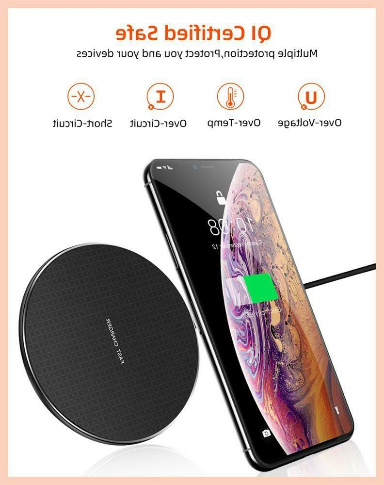 Qi Charging Pad Dock for iPhone Android Cell