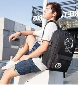 Luminous Backpack Anti-Theft With USB Charging Port Anime Co