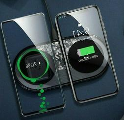 New Visible Wireless Charger Pad I Phone pods QI 15W Fast ch
