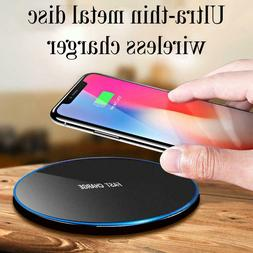 Qi Wireless Charger 10W Fast Charging Dock Mat Pad For iPhon
