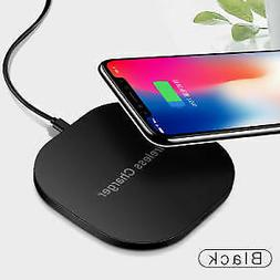 Qi Wireless Charger Charging Pad for iPhone XS/Max/XR/8/X Ga