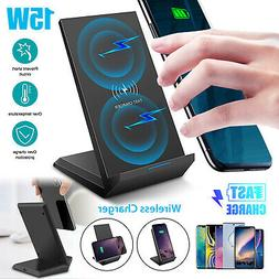 Qi Wireless Charger Dock Stand Fast Charging Pad Mat Mount H