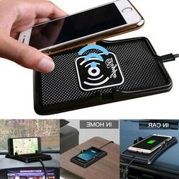 Qi Wireless Charger Pad Fast Charging For Car Dashboard Desk
