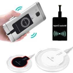 Qi Wireless Fast Charger Dock Charging Pad + Receiver For Sa