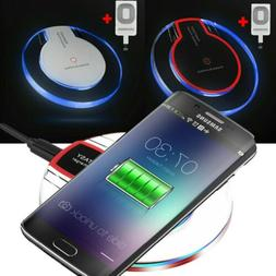 Qi Wireless Fast Charger Dock + Charging Pad Receiver For iP