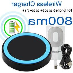 Qi Wireless Fast Charger Kit Receiver Charging Pad For iPhon