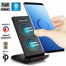 Qi Wireless Fast Charging Charger Stand Dock Pad for iPhone