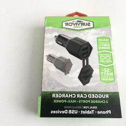 Griffin Survivor 12W Universal USB Car Charger Adapter For i