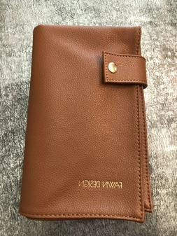 FAWN DESIGN Tan Brown Faux Leather Changing Pad Mat NEW NWOT